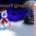 Season's Greetings CD Snowman by jkartlife