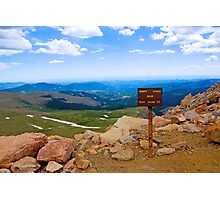 July 4th at Mt Evans Photographic Print