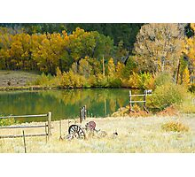 Ranch Pond in Autumn Diptych 2  Photographic Print