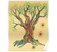 Glowing Brighter in Serenity Tree Poster