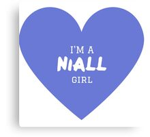 Niall Girl ( One Direction ) Canvas Print