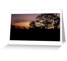 Sunset in Siem Reap Greeting Card