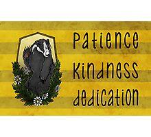 The Badger's Dedication Photographic Print
