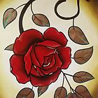 simple rose tattoo art. by resonanteye