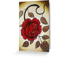 simple rose tattoo art. Greeting Card