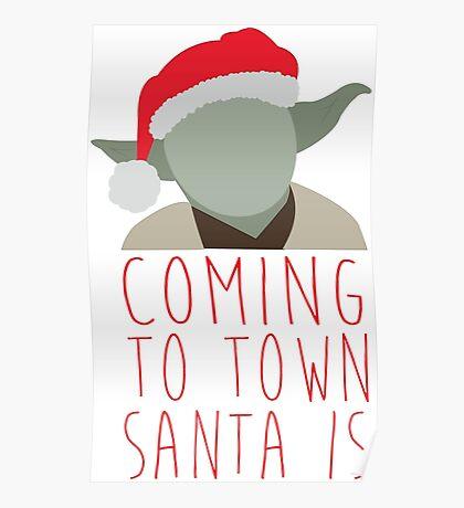 Yoda Claus Poster