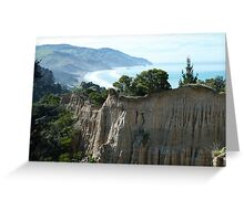 Cathedral Cliffs, Gore Bay Greeting Card