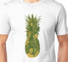 Pineapple Outline Psych Cast Unisex T-Shirt