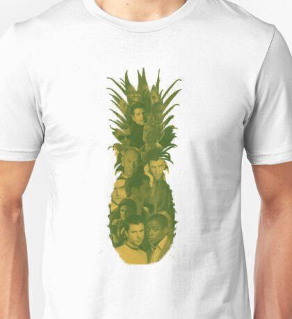 Pineapple Outline Psych Cast Unisex T-Shirt