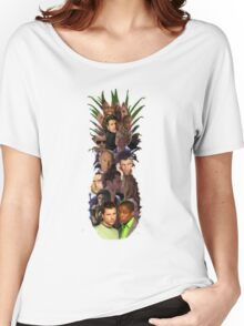 Pineapple Outline Psych Cast w/o Gradient Women's Relaxed Fit T-Shirt
