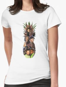 Pineapple Outline Psych Cast w/o Gradient Womens Fitted T-Shirt