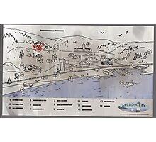 Arcadia Bay Map - Life is Strange Photographic Print