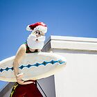 surfing santa - greeting card by davidprentice