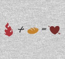 Fire + Bread = True Love Kids Clothes