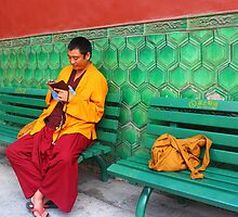 Monk At Yonghegong Lama Temple by KatyF