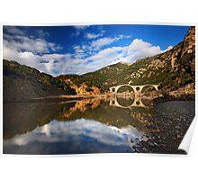 The stone bridge of Kompsatos river Poster
