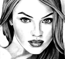 Candice Swanepoel Sketch by Tiffany Taimoorazy