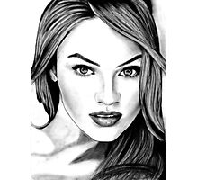 Candice Swanepoel Sketch Photographic Print