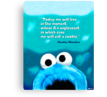 Cookie Monster Motivational Print Canvas Print