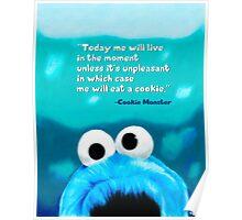 Cookie Monster Motivational Print Poster