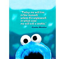 Cookie Monster Motivational Print Photographic Print