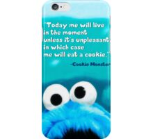 Cookie Monster Motivational Print iPhone Case/Skin