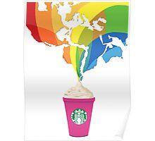 Starbucks Pop Art  Poster