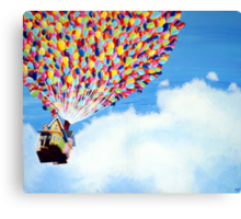 """Up"" Disney Painting Canvas Print"
