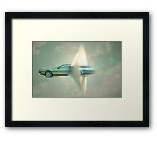 supersonic Delorean Framed Print