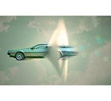 supersonic Delorean Photographic Print