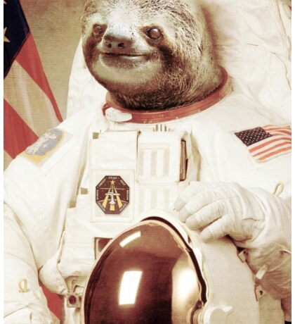 Astronaut Sloth Sticker