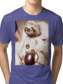 Astronaut Sloth Tri-blend T-Shirt