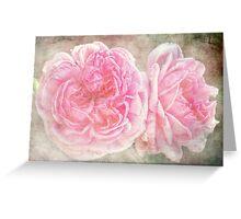 Vintge English Roses Greeting Card
