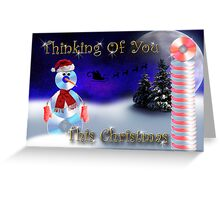 Thinking Of You This Christmas CD Snowman Greeting Card