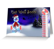 Get Well Soon CD Snowman Greeting Card