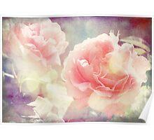 Vintage English Roses Poster