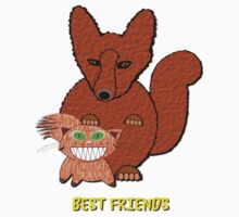 Fox & Cat Best Friends T-shirt Kids Clothes