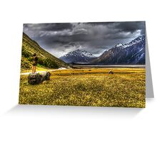 Mt Cook Region Greeting Card