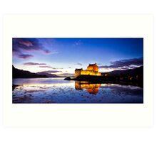 Dusk Eilean Donan Castle and Loch Duich, Scotland Art Print