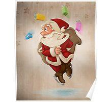 Santa Claus on ice Poster