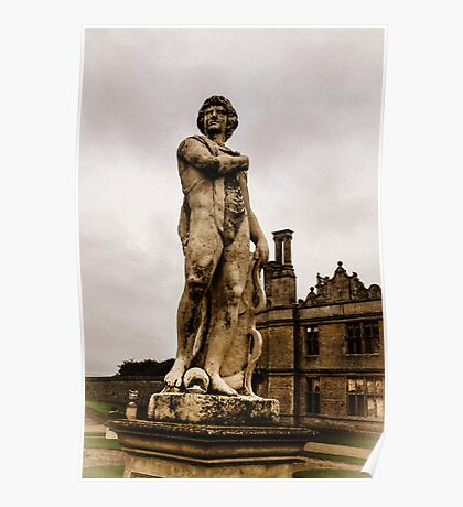 Statue at Kirby Hall Poster
