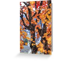 Japanese village through the trees Greeting Card