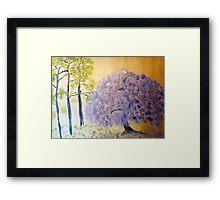 Shining Wisteria Tree Framed Print