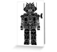Robot Toy Greeting Card