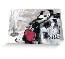 Micky Plays with Death and Kid Glove Again Greeting Card