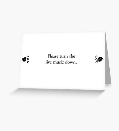 Boomer Cards - Live music Greeting Card