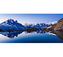 Lac Blanc Panorama Photographic Print