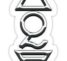 FOUR ELEMENTS PLUS ONE V  - shiny chrome Sticker