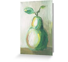 Still Life Pear Greeting Card