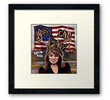 Sarah Palin original art Framed Print